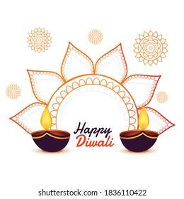 decorative happy diwali festival card design background