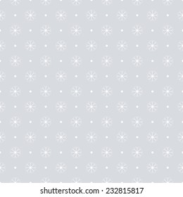 Decorative holidays pattern, seamless background with snowflakes - eps10