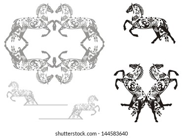 Decorative horse and horse frame