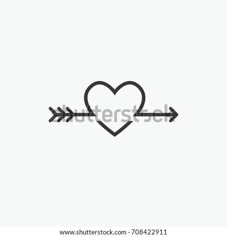 Decorative Icon Valentines Day Graphic Romantic Stock Vector