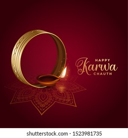 decorative indian festival of karwa chauth background