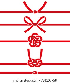decorative Japanese cord made from twisted paper. paper strings.