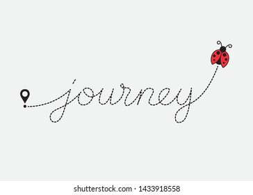 Decorative Journey Text for Fashion, Card and Poster Prints