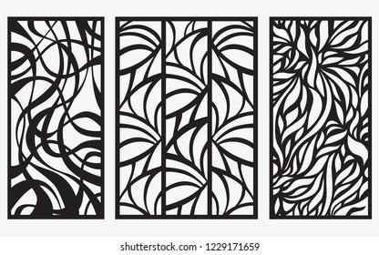 Decorative laser cut panel