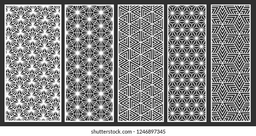Decorative laser cut vector set