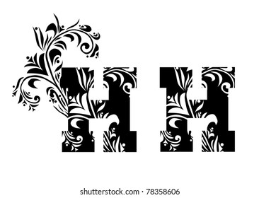 decorative letter H for your design