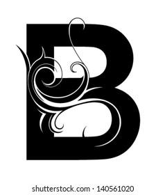 Decorative letter shape. Font type B