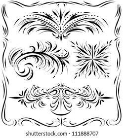 Decorative line work and flourish