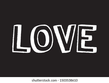 Decorative Love Text for Fashion, Card and Poster Prints