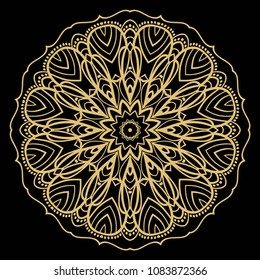 Decorative mandala flower ornament. pattern. vector. Tribal Ethnic Arabic, Indian, motif. for fashion design, wallpaper, invitation.