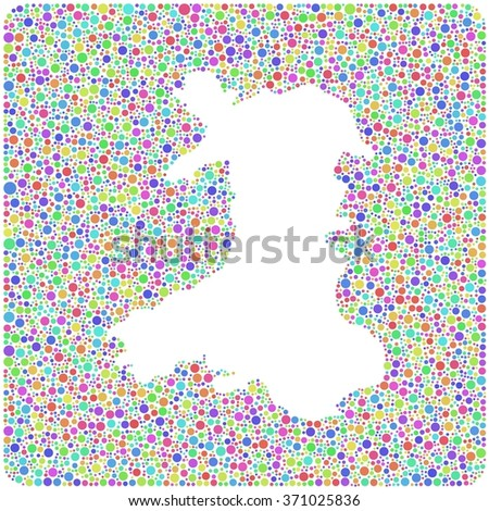Map Of Wales Uk.Decorative Map Wales Uk Into Square Stock Vector Royalty Free