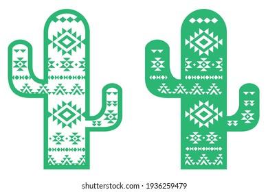 Decorative Mexican Cactus, cut file
