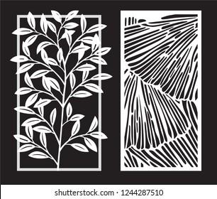 Decorative modern laser cut panel