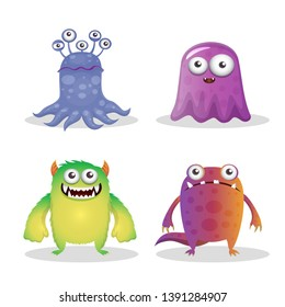 Decorative Monsters Collection - Vector