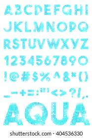 Decorative mosaic alphabet isolated on the background. Vector illustration.