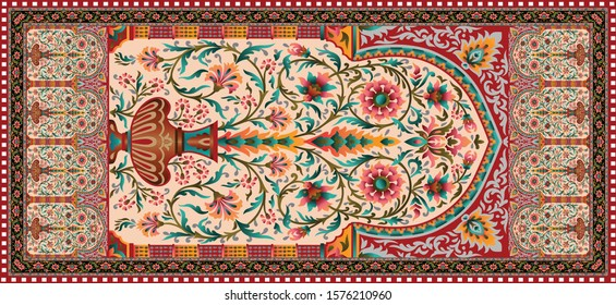 decorative mughal motif   stole background design