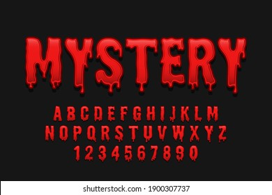 decorative mystery Font and Alphabet