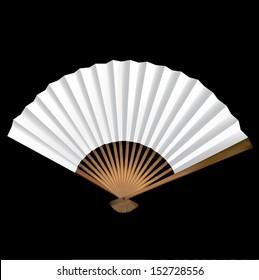 Decorative opened blank fan