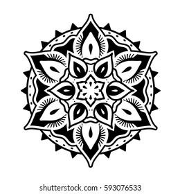 Decorative and oriental Mandala style ornaments