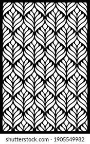 Decorative oriental patterned panels for laser cutting.