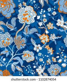 Decorative ornament backdrop for fabric, textile, wrapping paper, card, invitation, wallpaper web design