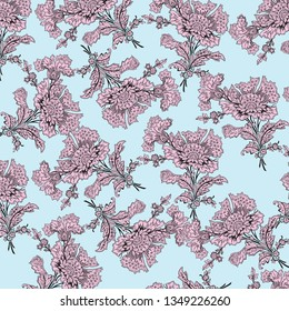 Decorative ornament  for fabric, textile, web design, wrapping paper, Wallpaper