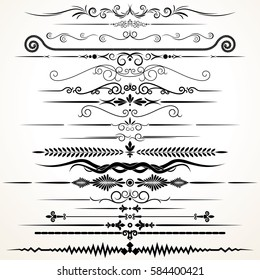 Decorative Ornament. Ornamental Rule Lines. Vector Decoration Set for Design.