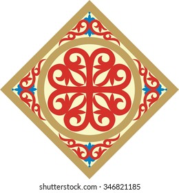 decorative ornament with vintage byzantine style elements