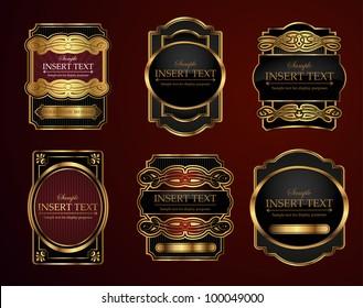 Decorative ornate label collection
