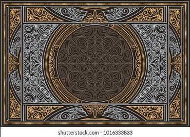 Decorative ornate retro design card