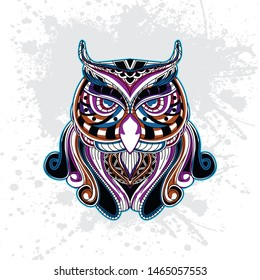 decorative owl from rousing pattern color