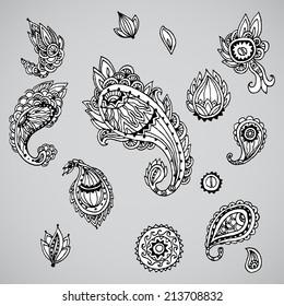Decorative paisley set