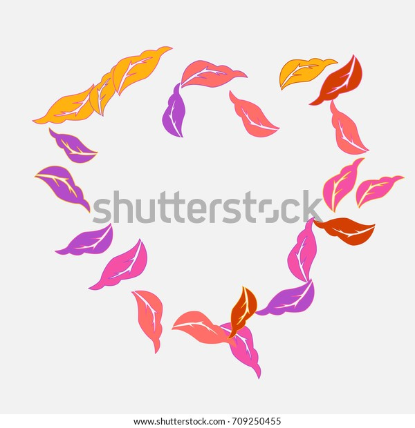 Decorative Pattern Autumn Leafs Print Paper Stock Vector Royalty Free 709250455