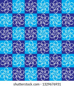 Decorative pattern with a blend of blue and white