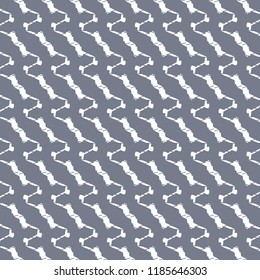 Decorative pattern with oblique, sinuous, irregular stripes on blue background. Textile print. Vector illustration.