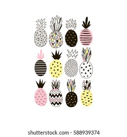 decorative pineapple poster