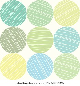 Decorative polka dot pattern. Vector seamless pattern.