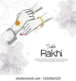 Decorative Rakhi for Raksha Bandhan. Indian holiday. illustration of Sale and promotion banner poster.