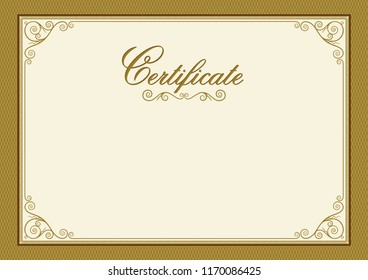 Decorative rectangular framework for label, certificate, card. A3, A4 page proportions. Lettering Certificate.