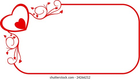Decorative red frame with heart