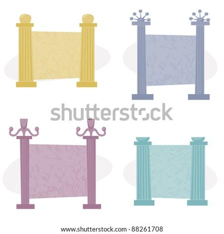 4004ec526e22 Decorative Roman Column Frames Space Text Stock Vector (Royalty Free ...