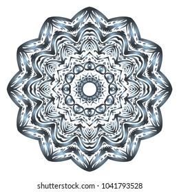 Decorative round ornament. Anti-stress therapy pattern. Vector illustration for design