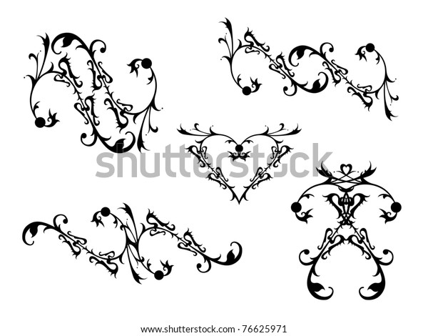 Decorative Scrolls Stock Vector Royalty Free 76625971