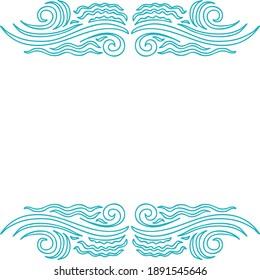 Decorative sea background. Vector illustration