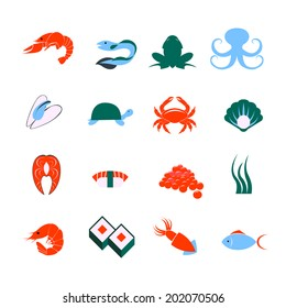 Aquarium underwater vector elements corals stones for Sashimi fish crossword