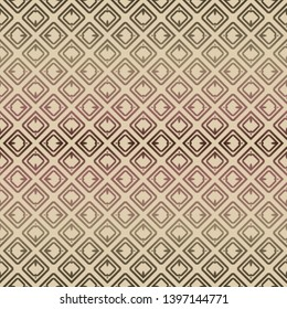 Decorative seamless geometric pattern with modern ornament. Vector decoration for fashion print, interior, design.
