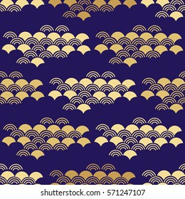 Decorative seamless pattern with asian elements.Asian , japanese, chinese  background.Chinese elements. Stylish trendy fabric.Vector Illustration.