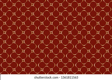 Decorative seamless pattern. Endless pattern for Wallpaper, textile, packaging, printing, Luxury vector