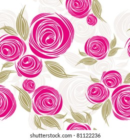 decorative seamless pattern with roses