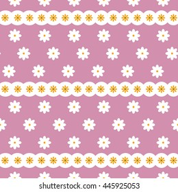 Decorative seamless vector background with abstract flowers